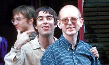 Alan Mcgee with Liam Gallagher in 1997