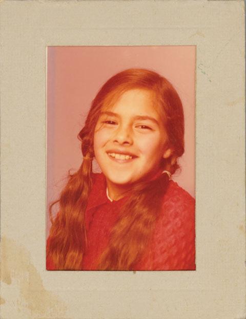 School photo of Tracey Emin, aged nine