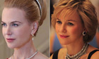 Nicole Kidman as Princess Grace and Naomi Watts as Princess Diana