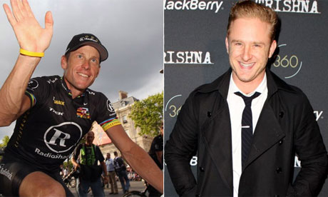 Lance Armstrong and Ben Foster, the actor who is set to play him in a forthcoming biopic