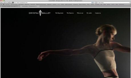 Crystal Ballet website screengrab