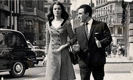 Christine Keeler with her solicitor leaving Marlborough Magistrates Court