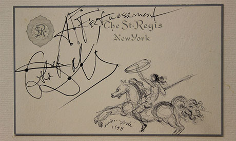 Affectionate note … the sketch Salvador Dalí drew for Wallis Simpson, the duchess of Windsor.