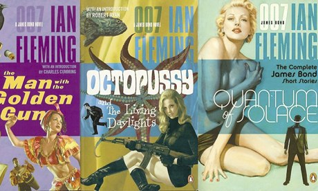 Some of Ian Fleming's original James Bond novels.