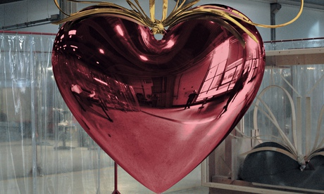Jeff Koons' Hanging Heart at the Palazzo Grassi in Venice