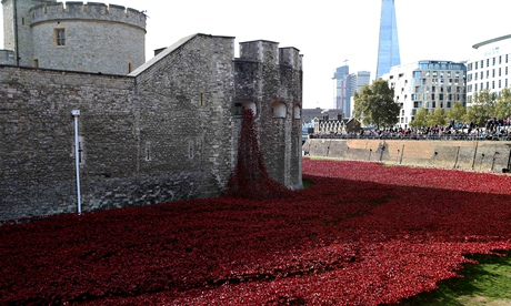 Sight to remember? … Blood Swept Lands and Seas of Red, a sculpture consisting of thousands of ceram