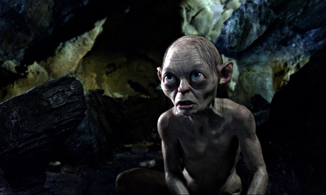 Puzzle fan … Gollum, in the riddle scene from An Unexpected Journey. Photograph: AP