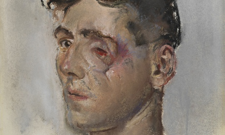 A detail from Soldier with Facial Wounds, by Henry Tonks, 1916-18