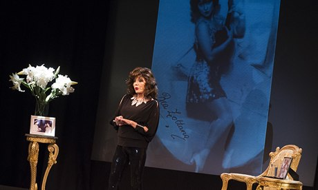 Joan Collins in One Night With Joan at Leicester Square theatre last year.