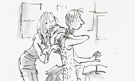 A Quentin Blake illustration for The Boy in the Dress