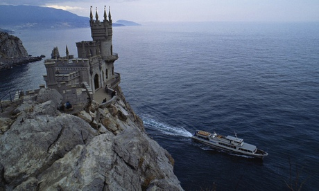 A neo-Gothic castle on the Black Sea built around 1900