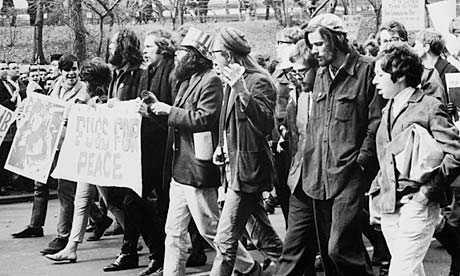 Allen Ginsberg protesting against Vietnam in 1966