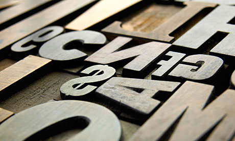 Old wooden letters