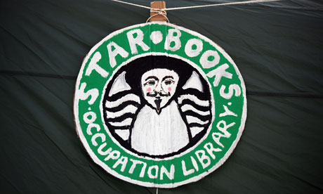 'Star Books' library at the Occupy London protest