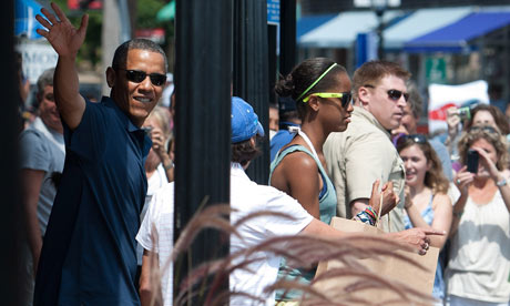Barack Obama goes shopping