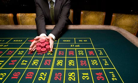 Pushing chips on a roulette table