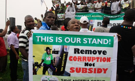 Fuel subsidy protest in Nigeria