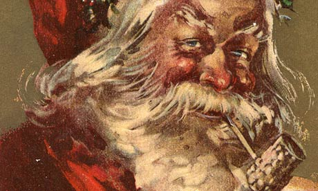 Father Christmas smoking