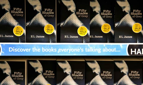 Bookshop display of Fifty Shades of Grey