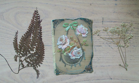 Secondhand book inserts flowers