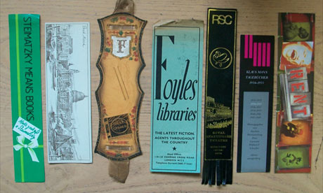 Secondhand book inserts bookmarks