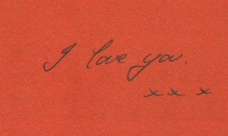Book dedication: I love you