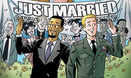 Archie's happy ending: detail from the cover of now sold-out gay wedding ...