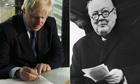 Boris Johnson and Winston Churchil
