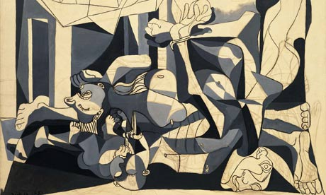 Detail of Picasso's The Charnel House