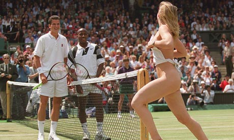 Streaker At Us Open http://www.guardian.co.uk/sport/2009/jun/19/wimbledon-tennis-best-moments-top-20