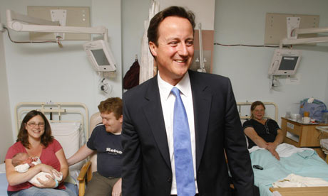 David Cameron visits maternity unit at Worthing Hospital