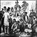 A slave market: illustration to Uncle Tom's Cabin