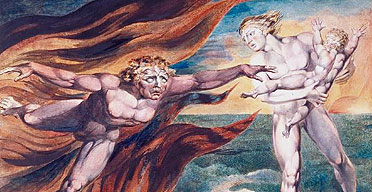 Good and Evil Angels (detail) by William Blake