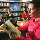Reading group at Woodchurch Library on The Wirral