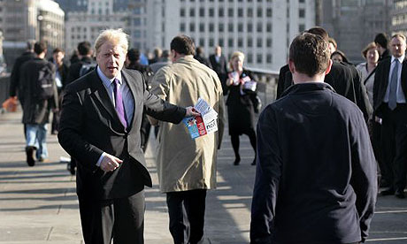 Boris Johnson goes leafletting