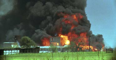 The Branch Davidian compound in Waco, Texas