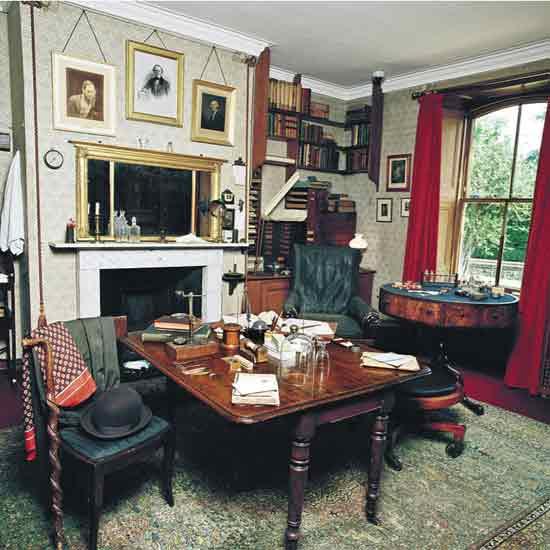 Writers Rooms Charles Darwin Books The Guardian
