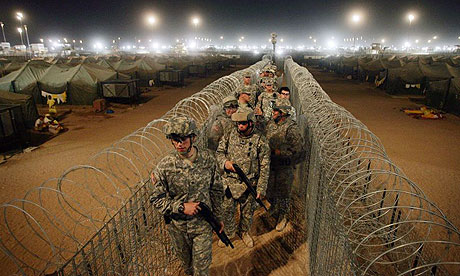American troops at Camp Bucca in Iraq