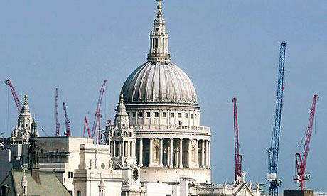 London skyline (with cranes)