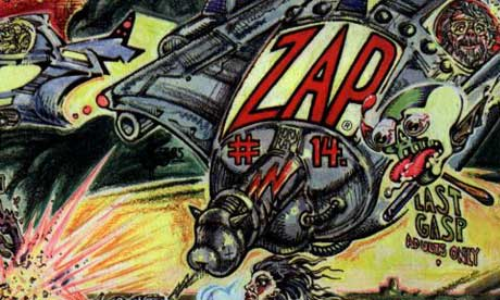 Detail from the cover of the 30th anniversary issue of Zap Comix, released in 1998