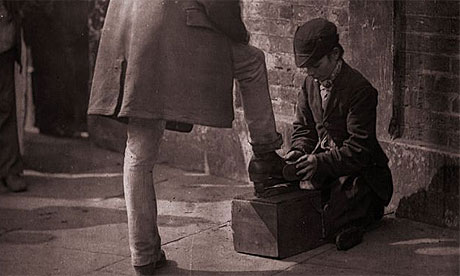 A bootblack on London's streets