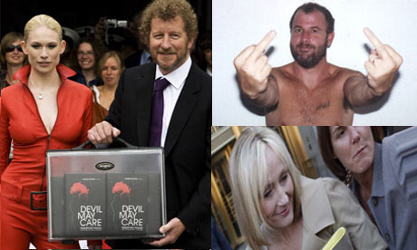 Sebastian Faulks, James Frey and JK Rowling