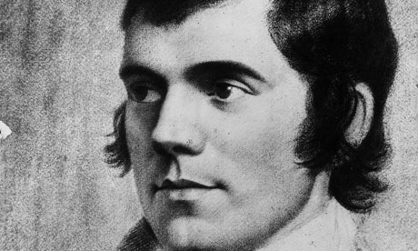 Robert Burns; image courtesy of The Guardian
