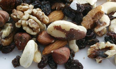 mixed nuts walnuts brazil nuts hazel nuts