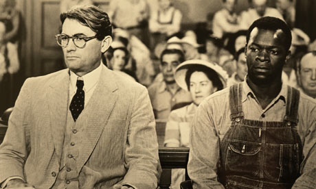 GREGORY PECK IN A SCENE FROM TO KILL A MOCKINGBIRD
