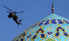 helicopter and mosque in baghdad