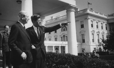 Harold Macmillan with John F Kennedy at the White House