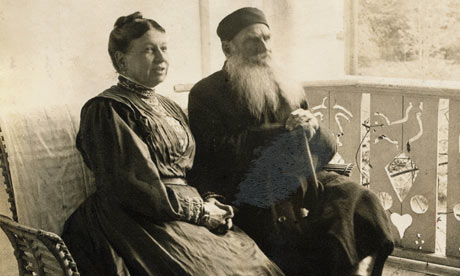 Tolstoy and his wife, Sofia