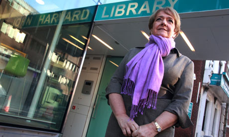 Margaret Hodge at the John Harvard Library