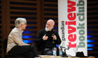 john mullan and terry pratchett (right) at bookclub event